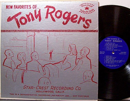 Rogers, Tony - New Favorites Of - Song Poem Compilation - Vinyl LP Record - Odd Weird