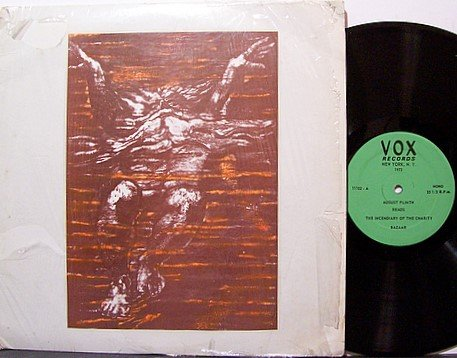 Plinth, August - Reads Selected Stories - Vinyl LP Record - Beat Poet Poetry Odd Unusual Weird