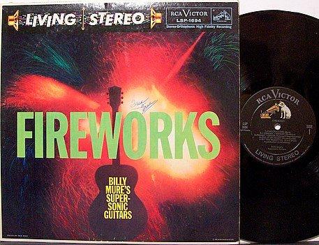Mure, Billy / Billy Mure's Supersonic Guitars - Fireworks - Vinyl LP Record - Odd Unusual Weird