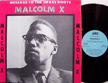 Malcolm X - Message From The Grass Roots - Vinyl LP Record - Spoken Word Weird