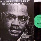 Malcolm X - Ballots Or Bullets - Vinyl LP Record - Spoken Word Weird