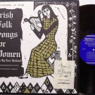 Holland, Lori - Irish Folk Songs For Women - Vinyl LP Record + Insert - Folkways Folk