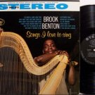 Benton, Brook - Songs I Love To Sing - Vinyl LP Record - R&B Soul