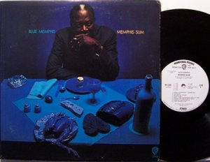 Memphis Slim - Blue Memphis - Vinyl LP Record + Insert - White Label Promo - Blues
