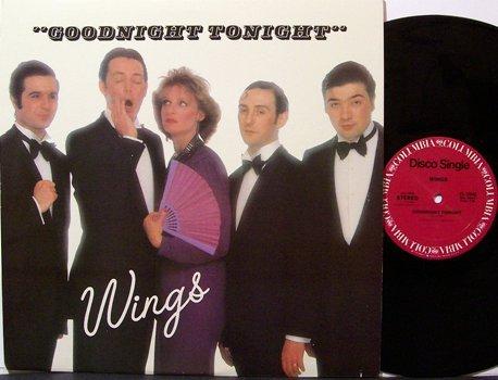 "Wings, Paul McCartney And - Goodnight Tonight - Vinyl 12"" Single Record - Disco Rock"