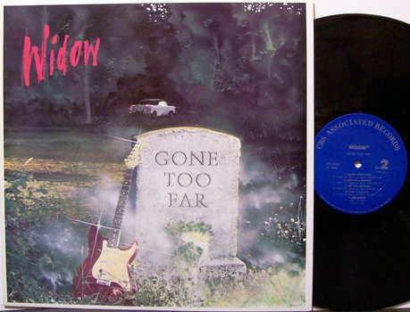 Widow - Gone Too Far - Vinyl LP Record - Rock