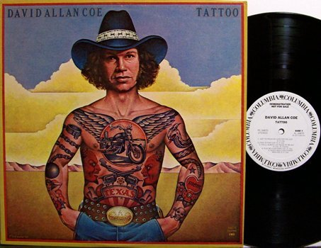 Coe, David Allan - Tattoo - Vinyl LP Record - Promo - Country
