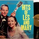 Paul, Les & Mary Ford - Hits Of Les And Mary - Vinyl LP Record - Pop Rock