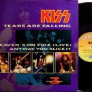 "Kiss - Tears Are Falling - Britain Pressing - Vinyl 12"" Single Record - Rock"
