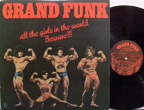 Grand Funk - All The Girls In The World Beware + Insert - Vinyl LP Record - Rock