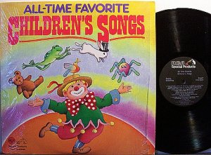 All Time Favorite Children's Songs - Vinyl 2 LP Record Set - Children Kids