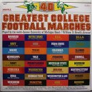 40 Greatest College Football Marches - U Of M Band - Sealed Vinyl 2 LP Record Set - Sports