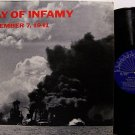Pearl Harbor Day Of Infamy December 7, 1941 - Vinyl LP Record - Military Odd Unusual