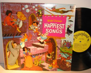 Disney, Walt - Happiest Songs - Vinyl LP Record - Children Kids