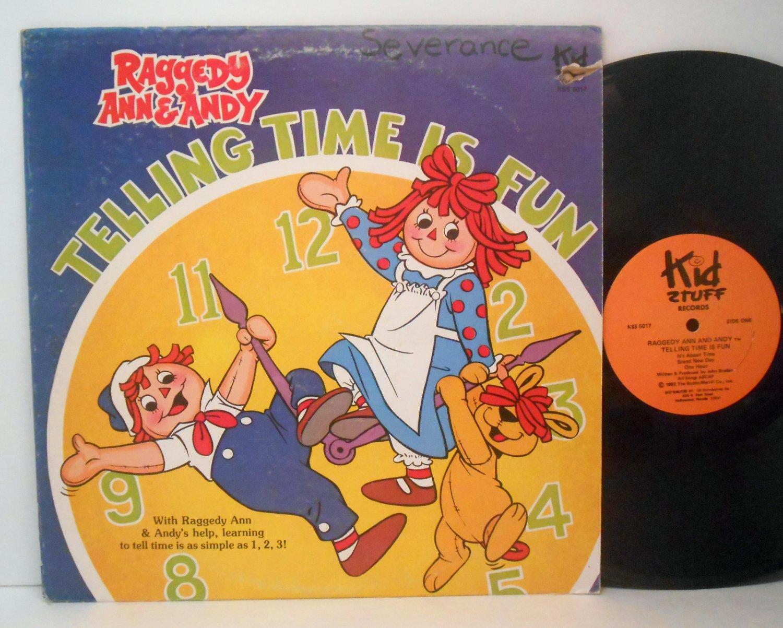 Raggedy Ann & Andy - Telling Time Is Fun - Vinyl LP Record - Children Kids