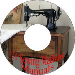 21 Sewing Machine Instruction Manual on CD Singer Pfaff Wheeler & Wilson Viking