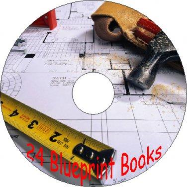 24 Vintage House Blueprint Books CD