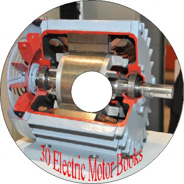 30 Old Vintage Books How to Repair Rewind Make Electric Motor & How They Work CD