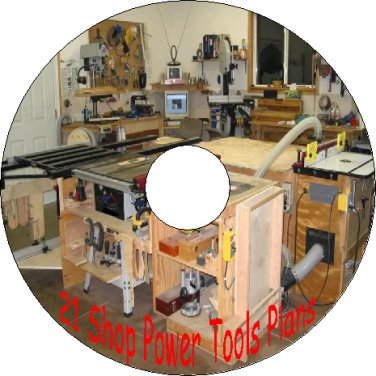21 Old Vintage Plans how to build Your Own Shop Power Tools CD