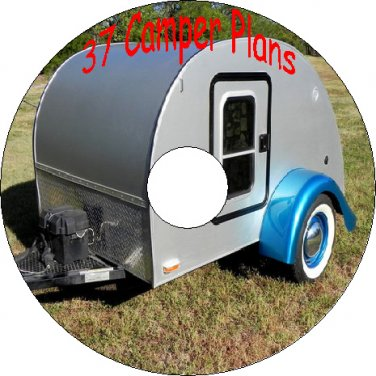 37 Vintage Plans How To Build a Camper Trailer on a CD-R
