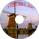 34 Books on Windmills,Waterwheels,Turbines,Dams to Produce Power & Turn Mills CD