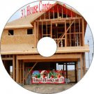 31 Old Books How To Build A House and Types of Materials on CD