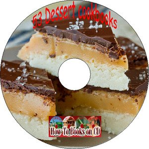 53 Dessert Pie Cake Cookie Pudding Pastry Recipes Cookbook on CD