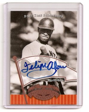 2005 Past Time Signatures Felipe Alou Auto Bronze logo