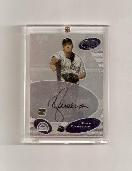 2003 Bowman's Best Ryan Cameron Autographed card - Rockies