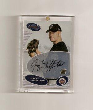 2003 Bowman's Best Jeremy Griffiths autographed card - Mets