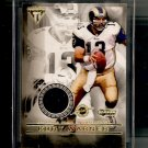 2001 Private Stock Titanium Kurt Warner Game-Used Jersey card - Rams