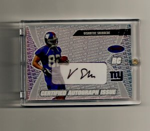 2003 Bowman's Best Certified Autograph Issue Visanthe Shiancoe Rookie card - Giants