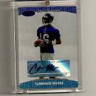 2004 Bowman's Best Certified Autograph Issue Clarence Moore Rookie card - Ravens