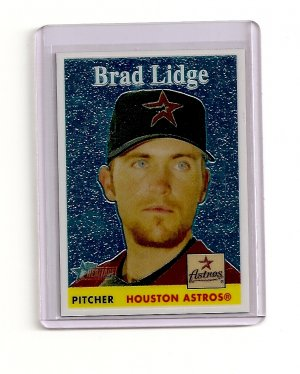 2007 Topps Heritage Chrome Brad Lidge card# THC39 serial #'d 1027/1958