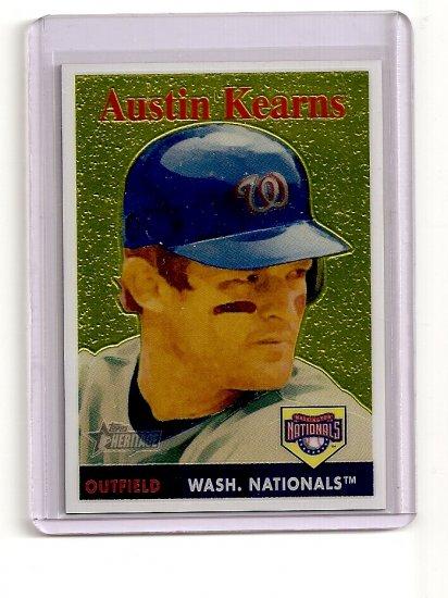 2007 Topps Heritage Chrome Austin Kearns card# THC20 serial #'d 1091/1958