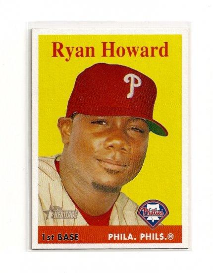 2007 Topps Heritage Ryan Howard card# 310 - Phillies