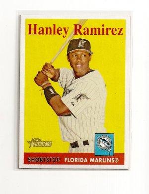 2007 Topps Heritage Hanley Ramirez card# 108 - Marlins