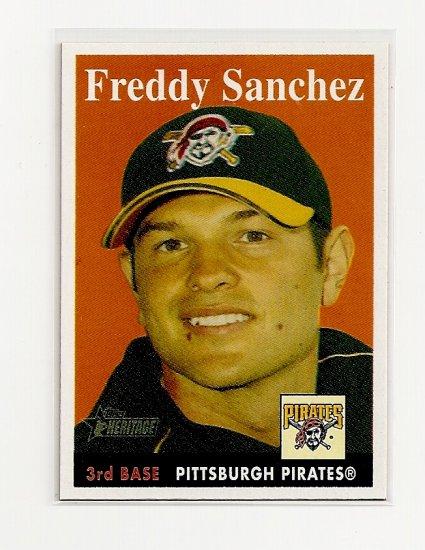 2007 Topps Heritage Freddy Sanchez card# 303 SP - Pirates