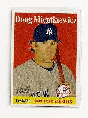 2007 Topps Heritage Doug Mientkiewics SP card# 284 - Yankees