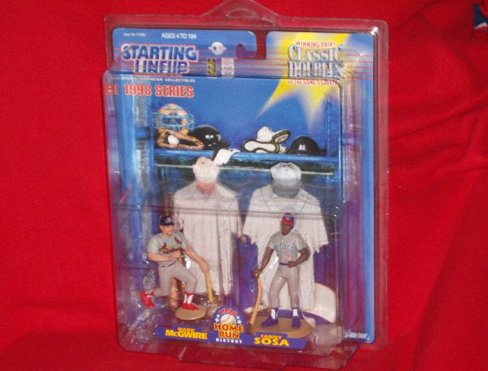 1998 Kenner Starting Lineup Homerun History Classic Doubles Mark McGwire and Sammy Sosa