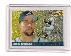 2004 Topps Heritage Chrome John Smoltz card serial #'d 0977/1955