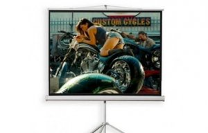 "72"" Projection Screen with Standing Shell"