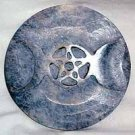Soapstone Triple Moon Altar Tile