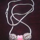 Pink Pizazz Paw Necklace
