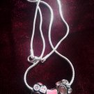 Pink Paw Necklace