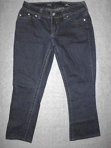 "Affliction Women's Jeans, JADE boot cut, Wash: CLEAN INDIGO, Size 32 Short(26"")"