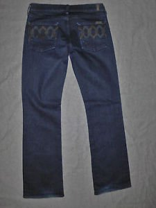 "7 For All Mankind Jeans Size 28 (33"" Inseam) Bootcut Fit, Dark Wash."