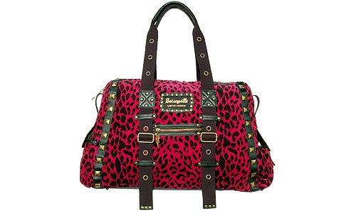 Betsey Johnson Betseyville Wild On Pink Leopard Weekender Luggage Oversize Bag