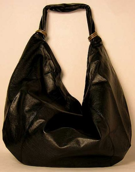 Oversize Black Soft Slouchy Hobo Satchel Bag Purse