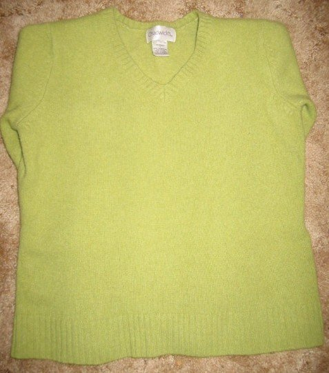 Lambswool/Nylon Lime Green Sweater